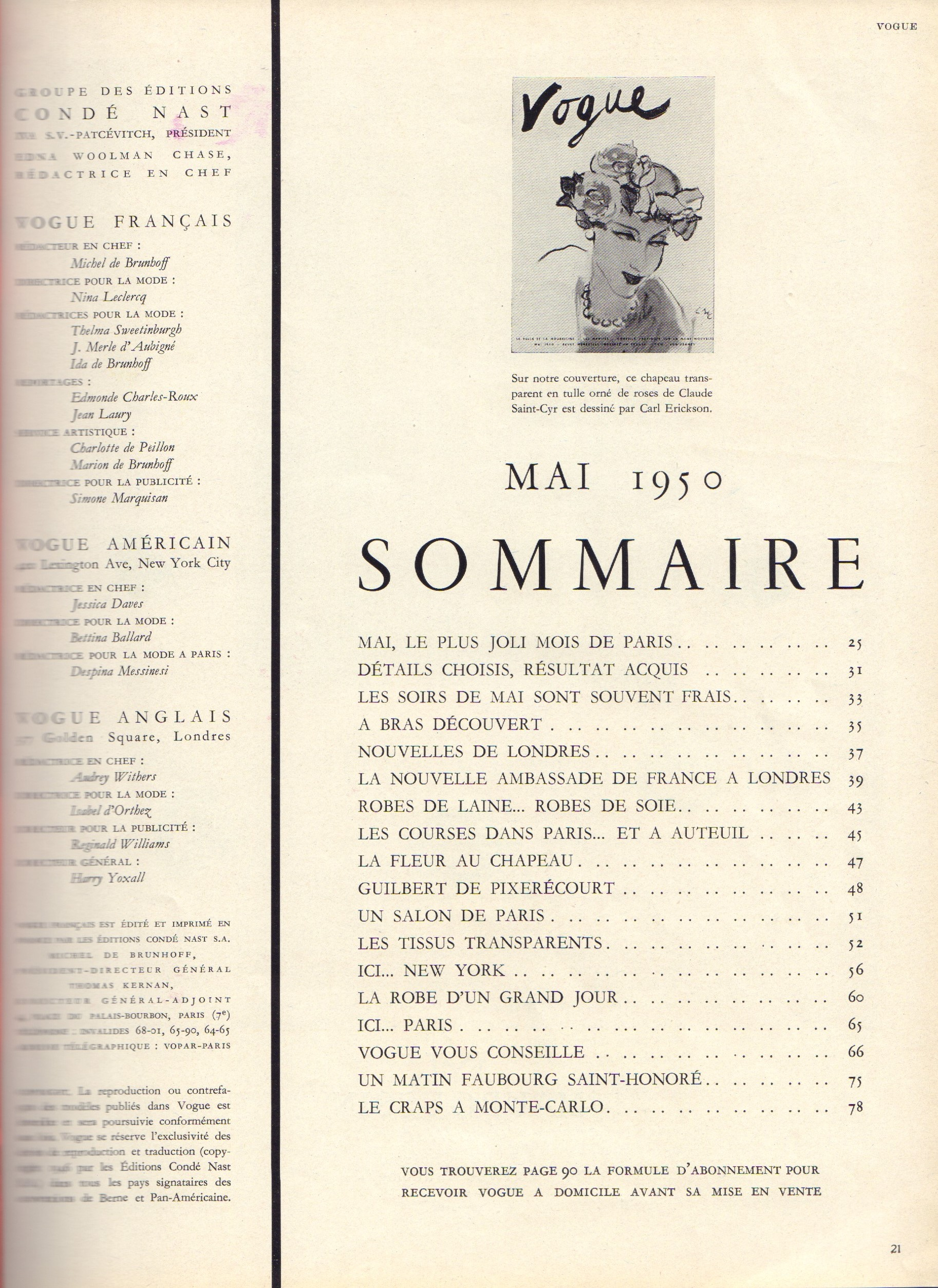 Image for Vogue Mai 1950 - French edition (May)