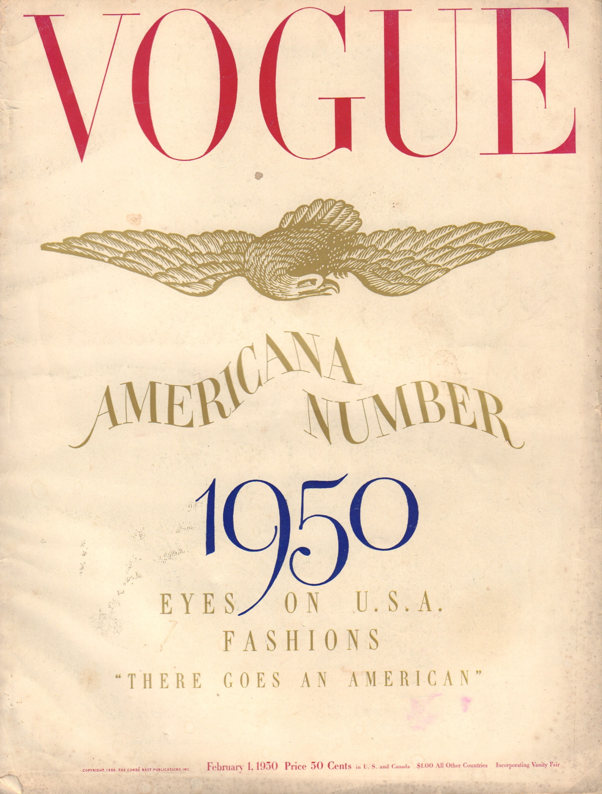 Image for Vogue February 1, 1950 - American Number 1950