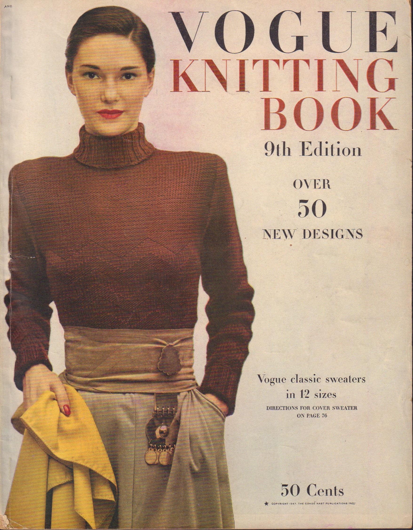Image for Vogue Knitting Book 9th Edition 1947