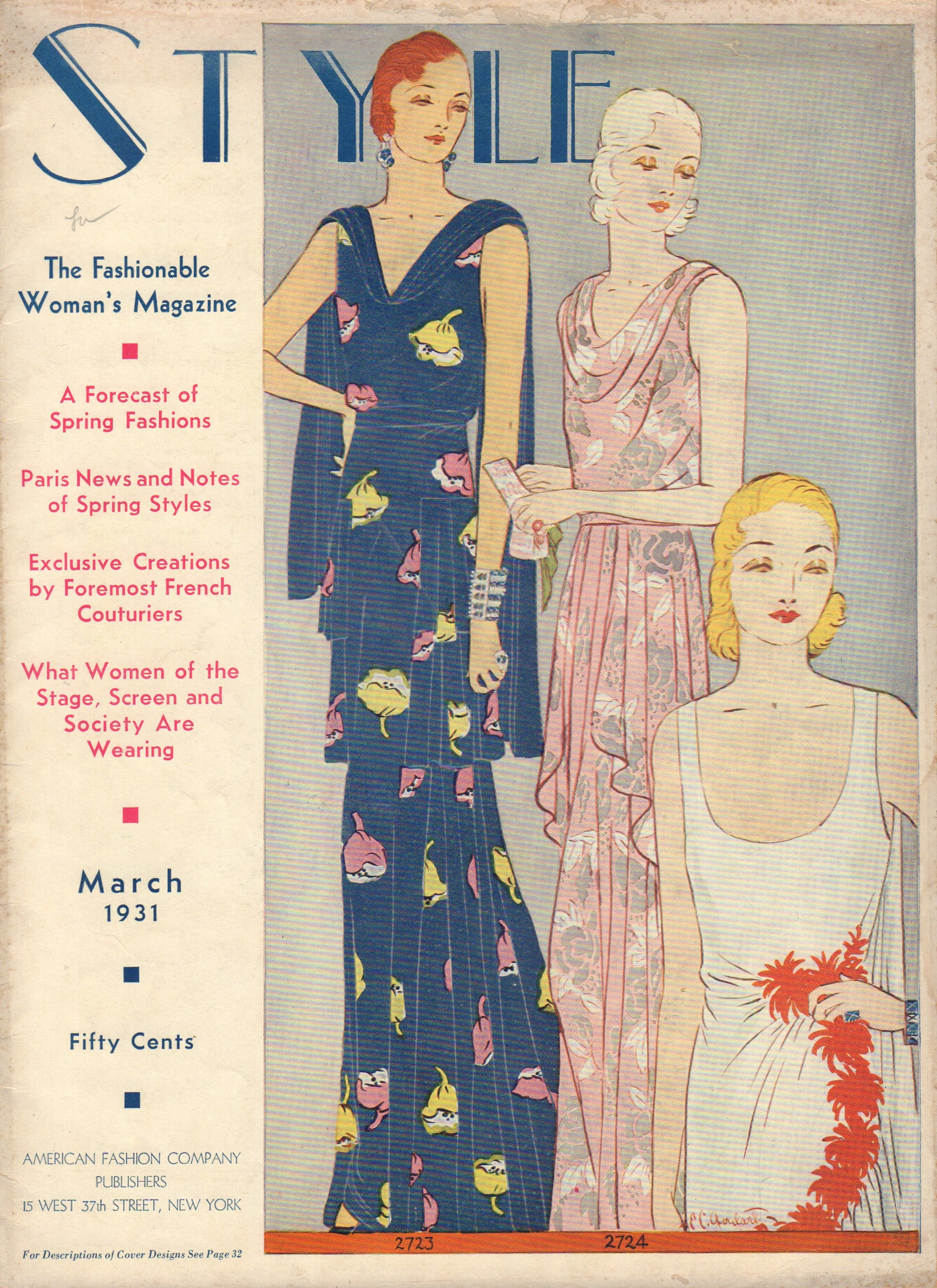 Image for Style, The Fashionable Woman's Magazine, Volume XVI, Number 1, March 1931