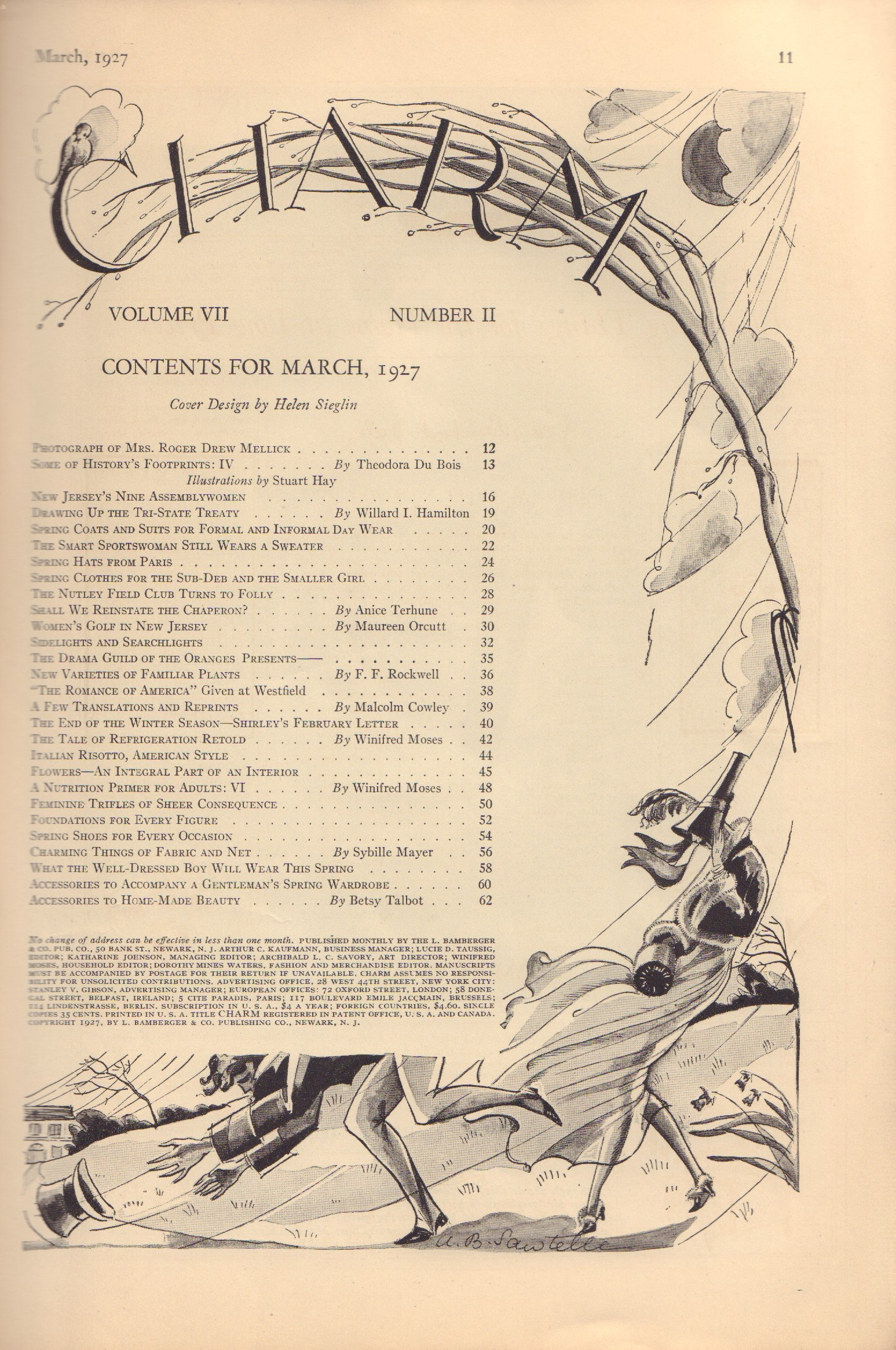 Image for Charm Volume VII, Number II - March 1927