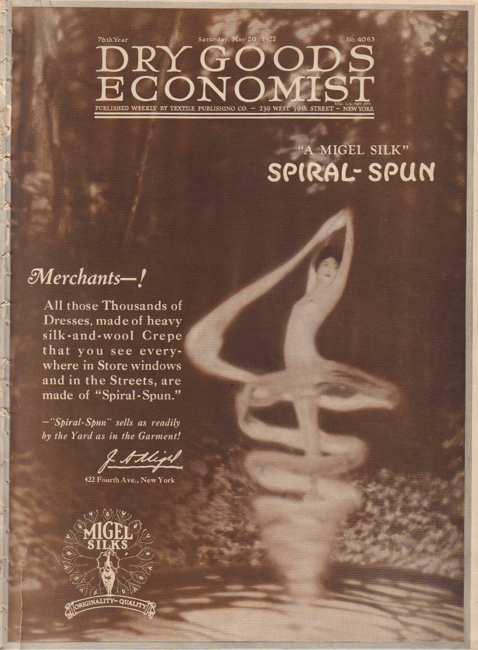 Image for Dry Goods Economist - Saturday May 20, 1922 - 76th Year, No. 4063
