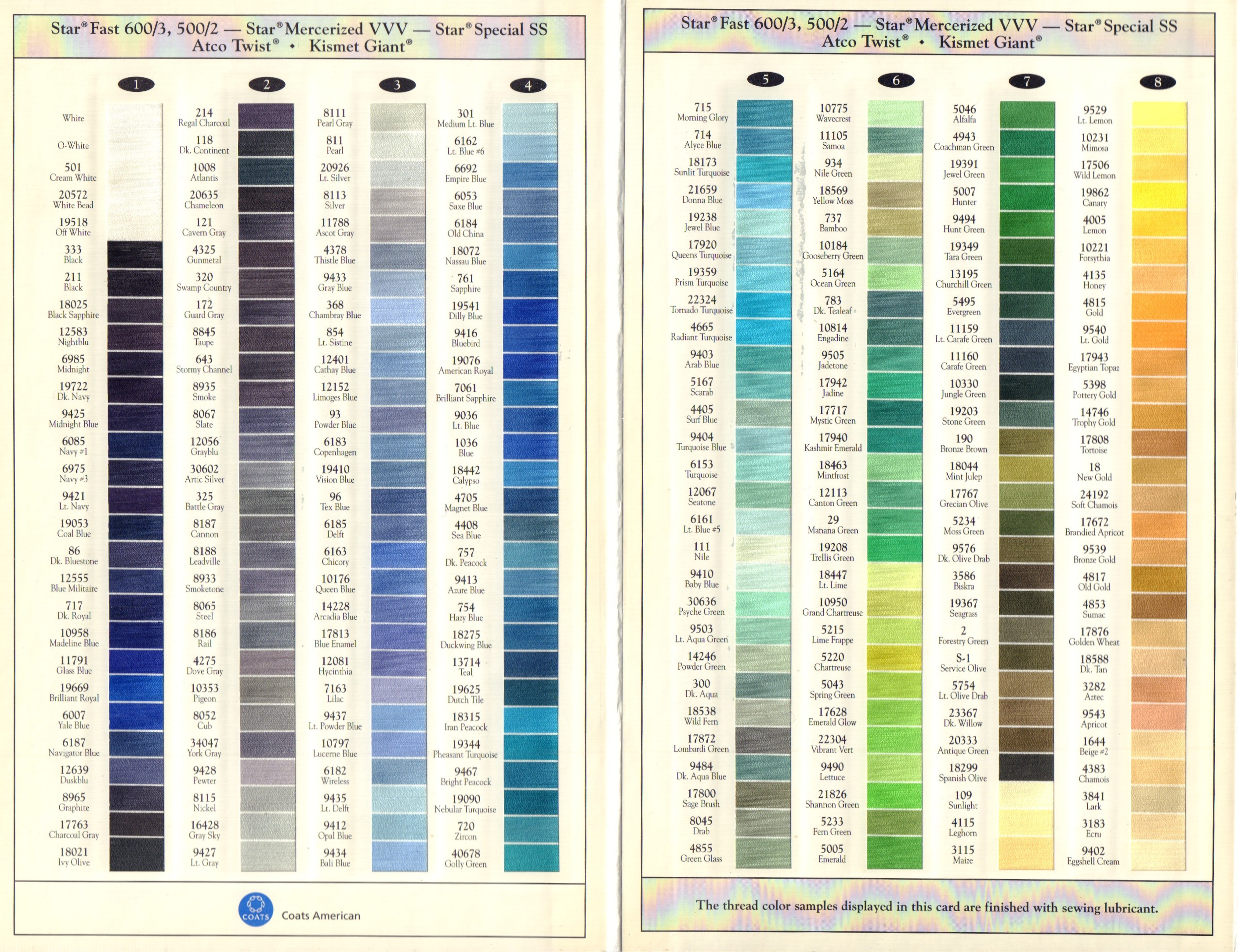 Image for For the Fabric of America, Mercerized Cotton Color Selection Guide