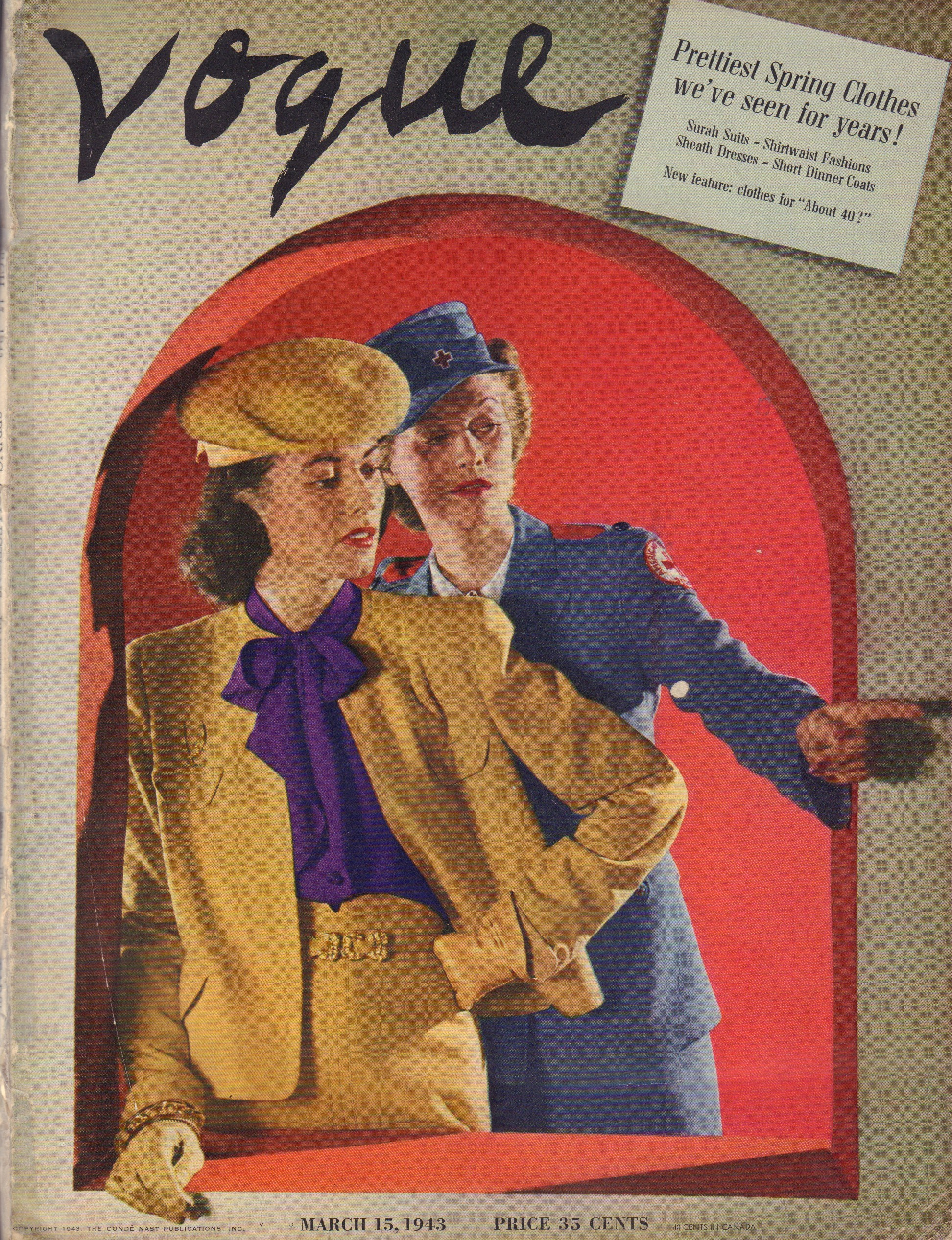 Image for Vogue - March 15, 1943
