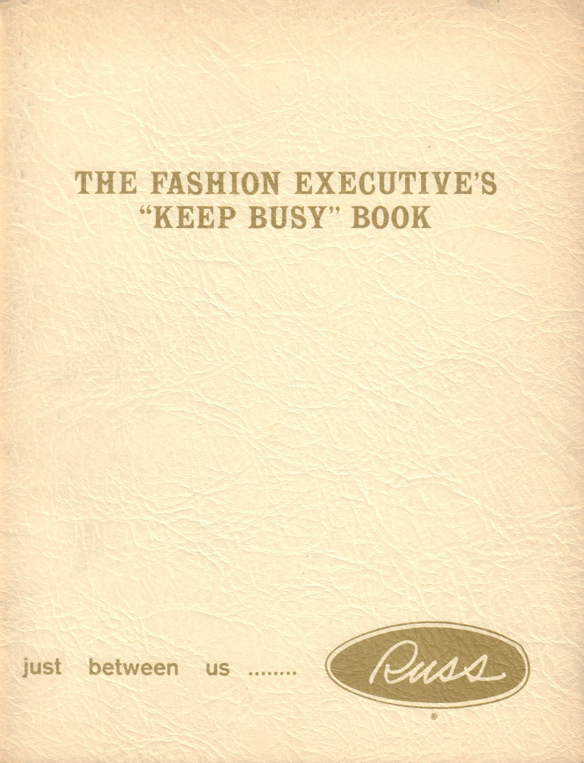 "Image for The Fashion Executive's ""Keep Busy"" Book"