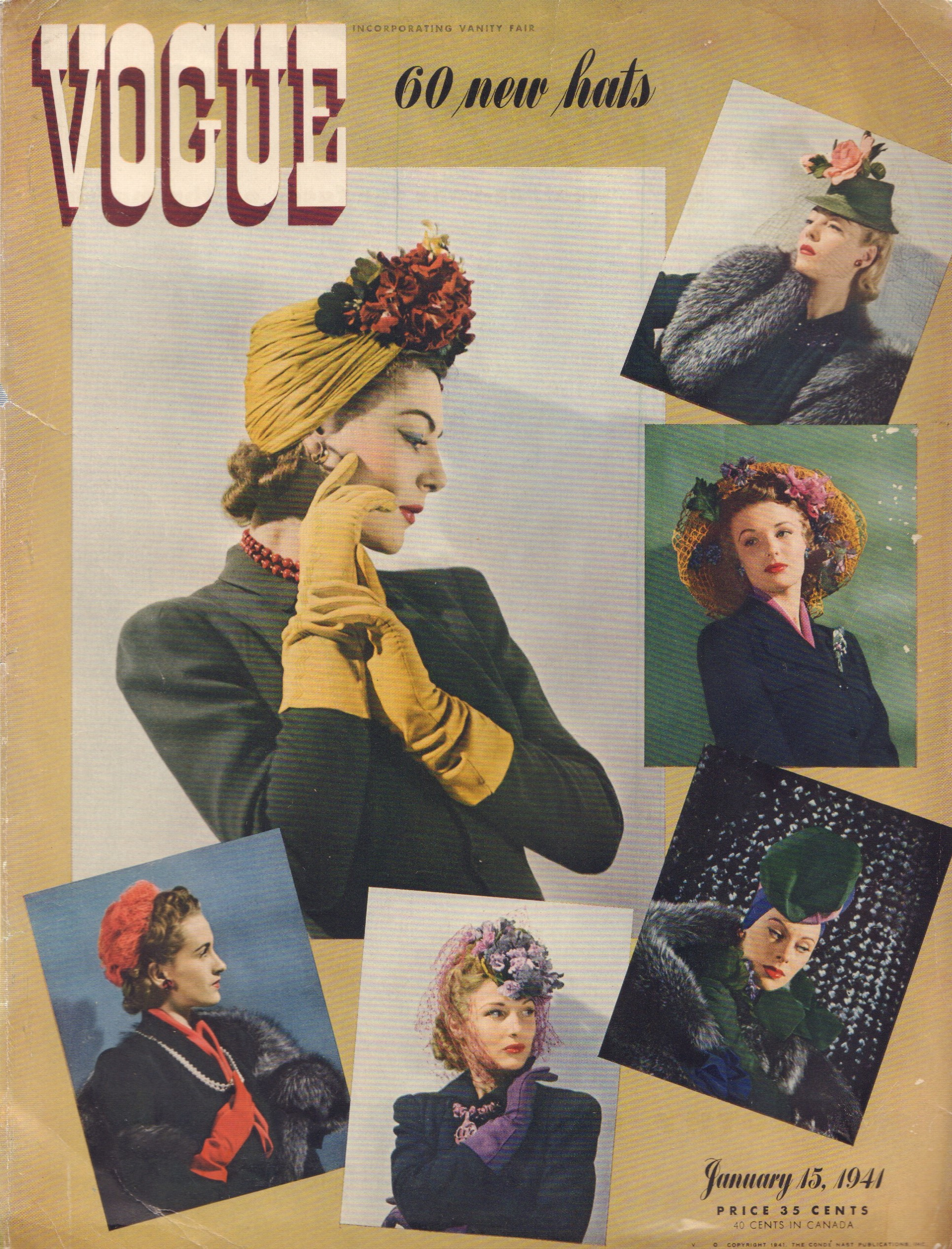 Image for Vogue Magazine Cover, January 15 1941
