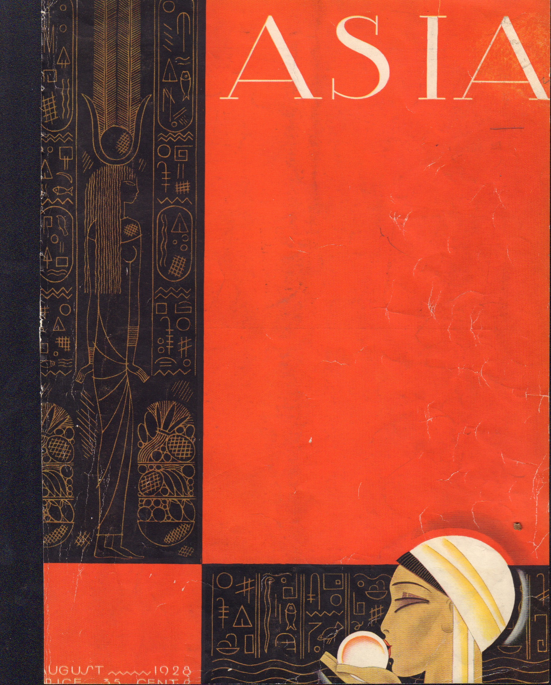 Image for Asia - August 1928 - Cover only