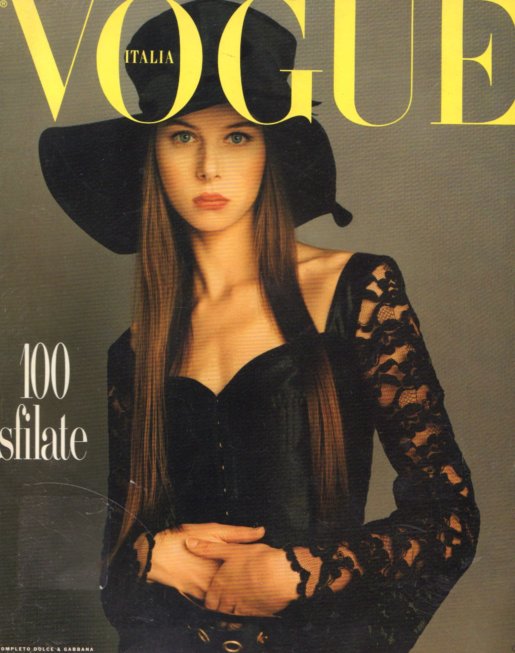Image for Vogue Italia- Dossier Sfilate Primavera Estate, Gennaio, January 1993  Italian Vogue- Supplement: Fashion Shows, Spring, January 1993