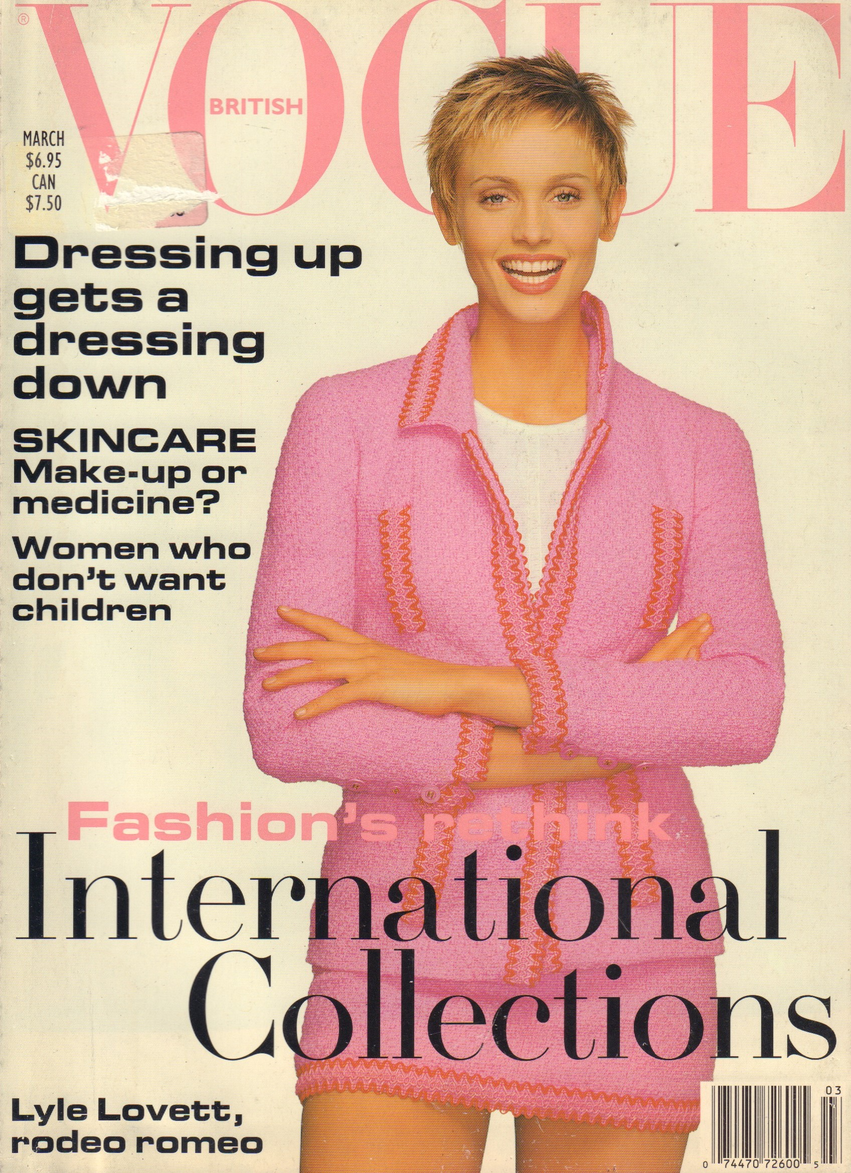 Image for British Vogue - March 1994